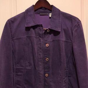 Chico's Purple denim jean jacket